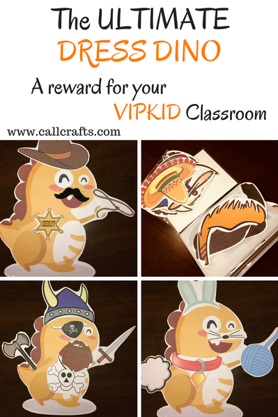 photo relating to Vipkid Dino Printable called The Final Costume Dino - CallCrafts